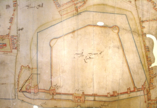 Early 17th Century Plan of the Tower of London: Dated 1670