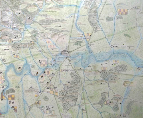 Anglo-Saxon Map of London with place-names
