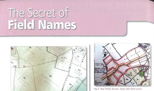 ARCHI UK Treasure Hunting Magazine Article: The Secret of Field Names
