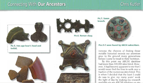 ARCHI UK Treasure Hunting Magazine Article: Connecting with Our Ancestors