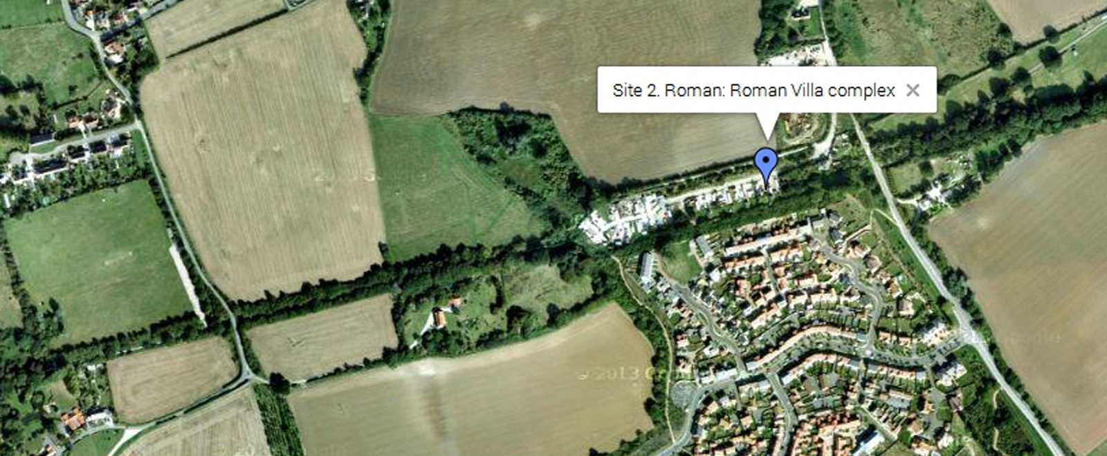 Roman Villa on Google Map in Essex
